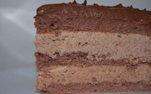 Retete Culinare - Tort cu trei creme de ciocolata