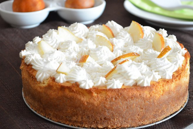 Retete Culinare - Pear cheesecake