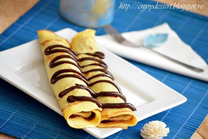 Reteta Clatite cu Ciocolata Clatite cu Ciocolata si