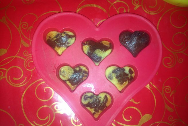 Briose in forma de inima de Valentine`s day