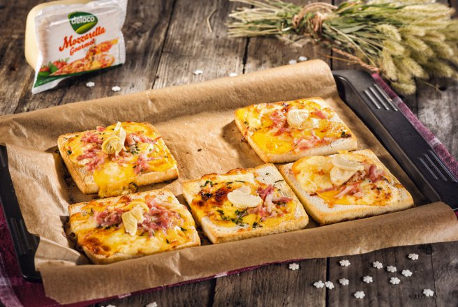 Sandwich cu Mozzarella Gourmet by Delaco, bacon si anghinare