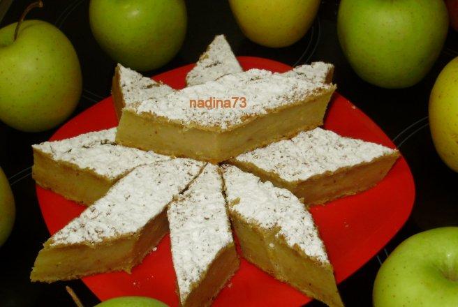 Prajitura cu mere de post turnata
