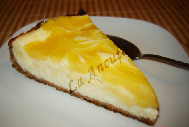 Cheesecake cu lemon curd