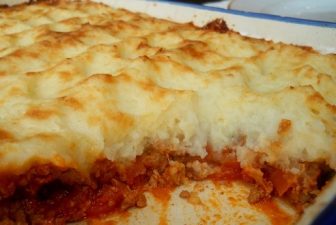 "Placinta englezeasca ""Cottage pie"""