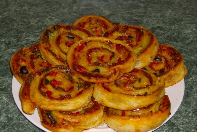 Mini pizza rulata