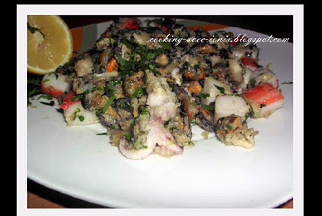 Cocktail de fructe de mare in wok