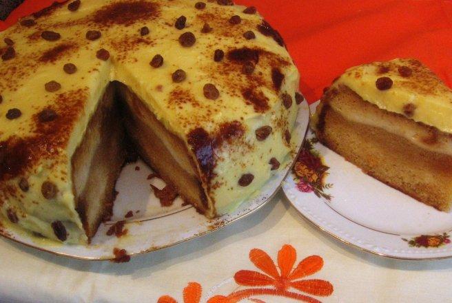 Tort crema de zahar ars cu portocale