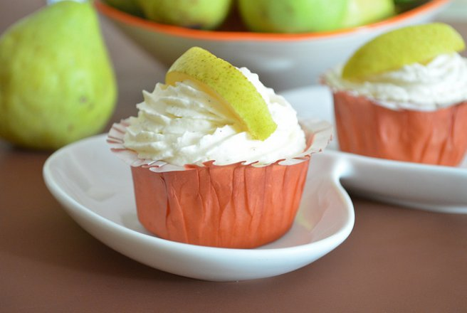 Coconut Pear Cupcakes