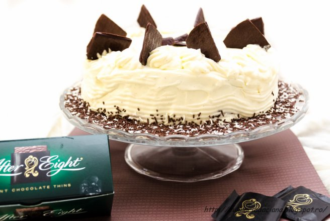 Tort de ciocolata cu toping de After Eight