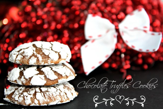 Chocolate truffles cookies