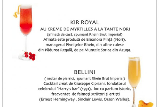 "Cocktailuri: Kir Royal, Bellini, Buck""s Frizz"