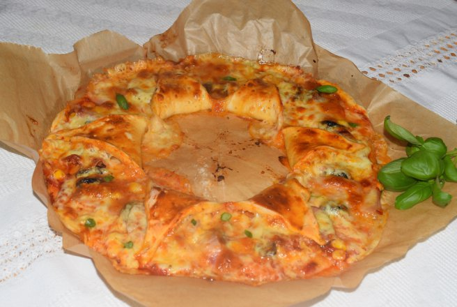 Pizza coronita floare