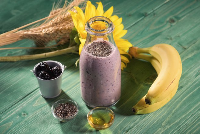 Smoothie energizant cu mure