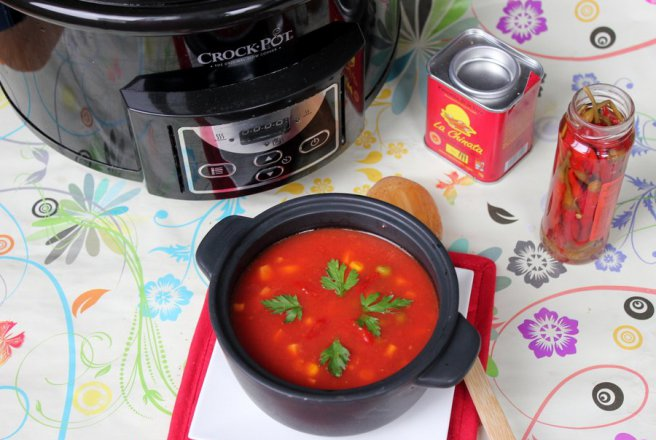 Supa de rosii mexicana la slow cooker Crock-Pot