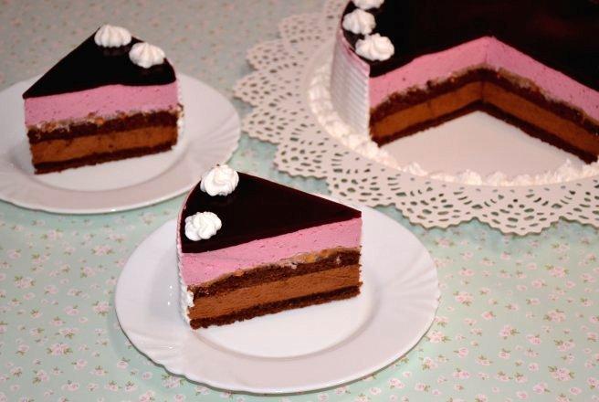 Tort cu crema caramel si crema de ciocolata