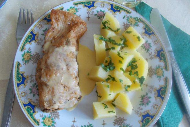 Cartofi natur cu peste