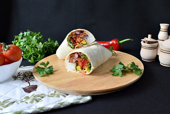 Burrito vegetarian, de post