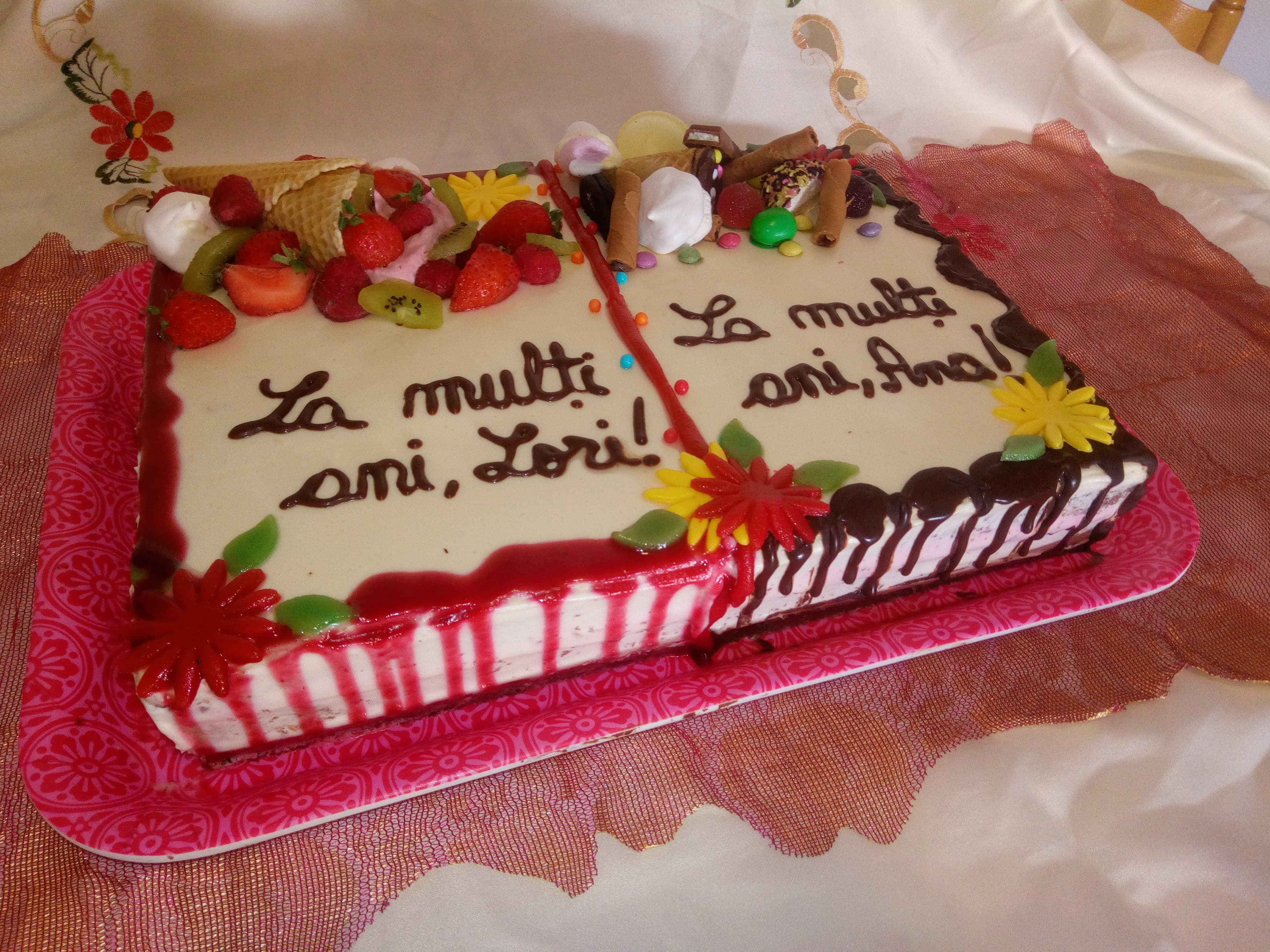 Desert tort pentru 2 aniversari