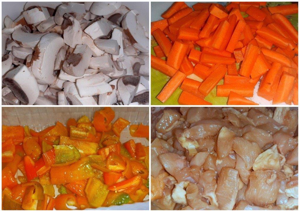 Piept de pui cu legume la wok