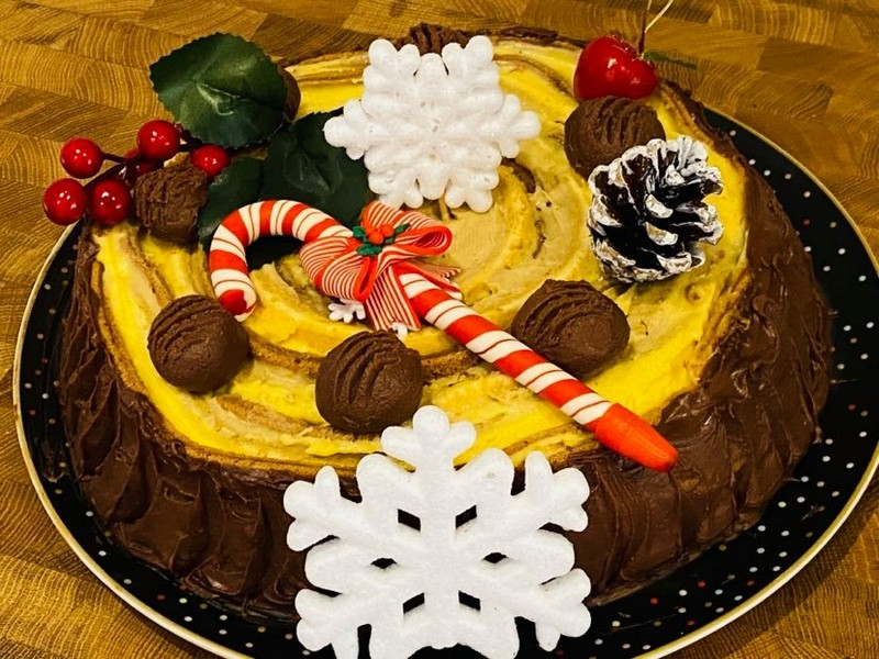 Desert tort buturuga de Craciun
