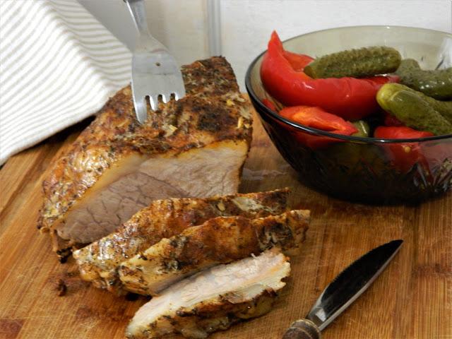 Pulpa de porc la slow cooker Crock-Pot cu orez brun