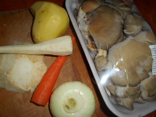 Supa crema de ciuperci Pleurotus