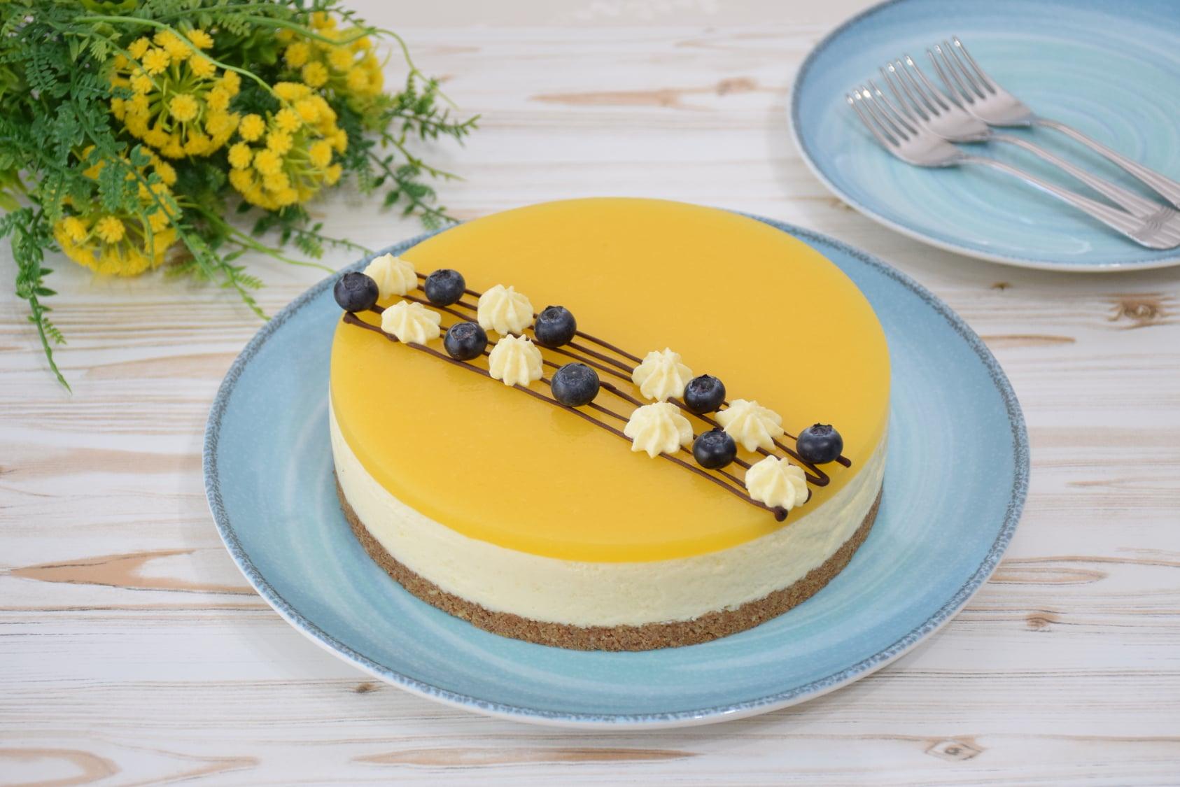 Cheesecake cu mango (fără coacere)