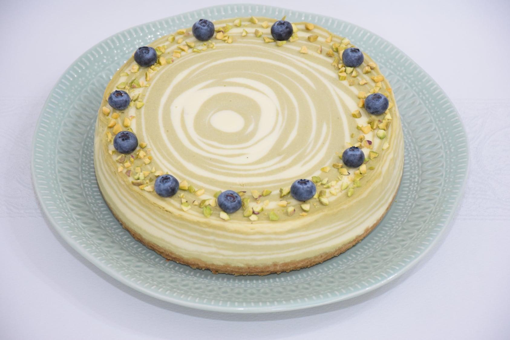 Desert matcha cheesecake
