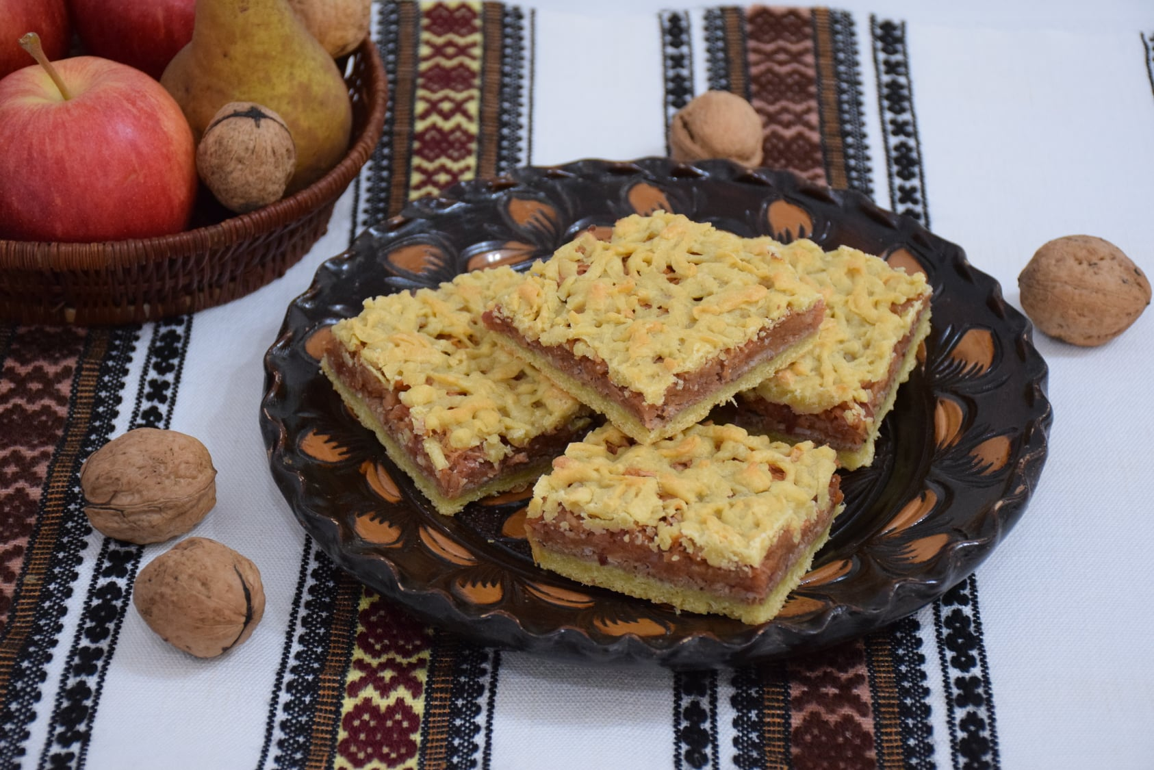 Desert prajitura cu mere si aluat razuit